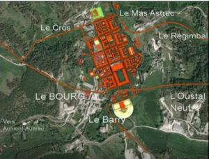 Plan de la ville au IIème siècle / vue aérienne